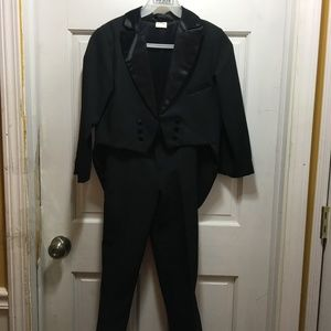 Boys Black Tuxedo with Tail  Jacket and pants